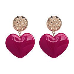 Venda por grosso de 2018 Mulheres Design Superior Jóias de ligas de cobre acessórios de moda da Praça de cristal brincos de queda da freqüência cardíaca