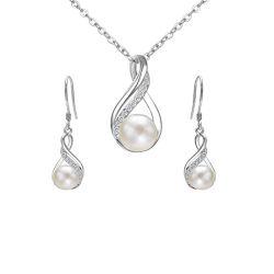 I monili di infinità hanno impostato l'argento sterlina 925 con la perla