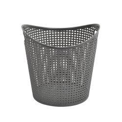 سلة الغسيل البلاستيكية المستديرة الشعبية اللون الرمادي التصميم الفريد