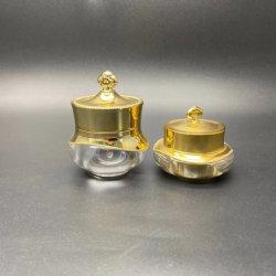 Oro y Plata de lujo de la Ronda de acrílico blanco crema de ojos cosméticos Jar 10g 15g Frasco de Crema Facial
