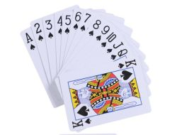 D'impression personnalisé Carte de jeu de cartes à jouer au poker avec de gros de la carte de Poker