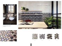 구멍이 있는 Creative Basalt Lava Stone Mosaic