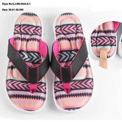 Modelo personalizado a los hombres las zapatillas de playa EVA Flip Flop, zapatillas de espuma de memoria
