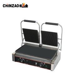 Домашняя кухня с двумя плиты электрические Panini портативный гриля для барбекю