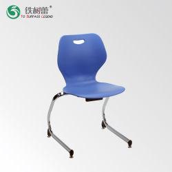 Escola de atacado cadeira de plástico de empilhamento com estrutura de aço