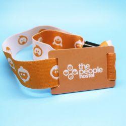 Image de marque personnalisée paiement sans numéraire La RFID MIFARE Plus X 2K Bracelet tissé de billet de l'événement