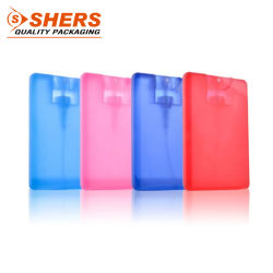 Custom 20ml PP forme de carte plastique bouteille de parfum vaporisateur Poche