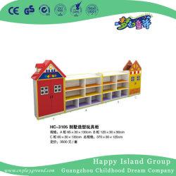 Los niños juguetes de madera estante de armario de jardín de infantes para niños muebles