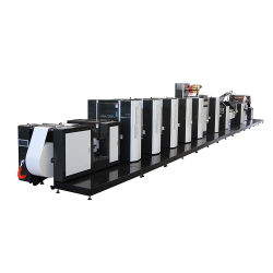 Étiquette adhésive de haute qualité des emballages flexibles 450 mm de largeur Web boîte en carton<br/> machine à imprimer offset