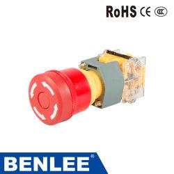37mm/Interruptores de Botón Pulsador de emergencia/giro suelte el botón con la marca