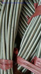 L'AISI 321 Tuyau en acier inoxydable ondulé annulaire avec SS 304 sur le fil de la tresse de tuyau de métal