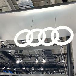Linscn 3D Auto-Firmenzeichen 2020 für den Selbstspeicher 4s, der Zoll chromiertes Acrylauto-Marken-Firmenzeichen und geleuchtete Zeichen bekanntmacht