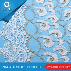 Tessuto chimico del merletto del fiore del tessuto 3D del merletto del fiore di disegno operato