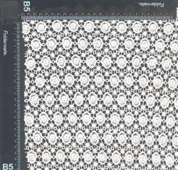 100 органического хлопка в Европе химических кружевной вышивкой ткань
