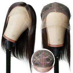 Parrucca diritta della parte dei capelli umani T di Remy di colore naturale della parrucca dei capelli umani di densità 150