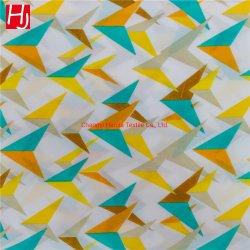 Più nuovo tessuto 100% del lenzuolo della pelle della pesca del rullo stampato del poliestere pigmento