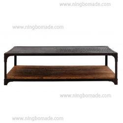 Vintage de antigüedades muebles industriales reclaman Natural Elm con plancha rústica mesa de café