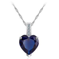2018 новых прибыл медных Crystal ювелирные изделия ожерелья цветной циркон сердце подвесная цепочка для женщин