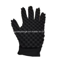 Новая конструкция двухсторонний черный Curl губки перчатки