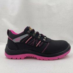 SICHERHEITS-Schuh-Sport-Schuhe der schwarzen rosafarbenen purpurroten Frauen spezielle steife Haupt