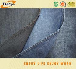 Baumwollpolyausdehnungs-natürliches Vorgespinst-Denim-Gewebe für Kleider