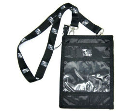 Schwarze Multi-Tasche Beglaubigungs- Mappen/Stutzen-Mappetradeshow-Halter