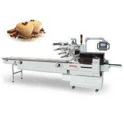 Empacotador de Fluxo automático para bolos pães macarrão máquina de embalagem do conjunto de almofadas de alimentos