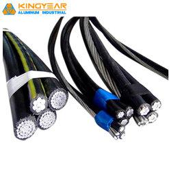 En PVC/aluminium avec isolation XLPE Conductor basse tension de câble de descente service Triplex offre groupée de l'antenne câble aérien ABC