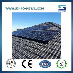 Toit de tuile La structure de support de panneau solaire Profil en aluminium PV Crochet Ardoise de toit