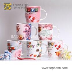 Het Drinken van het Aardewerk van de Mokken van de Thee van de Koffie van de Verjaardag van het porselein Mooie 12oz 14oz Huidige Ceramische Grote Kop van China