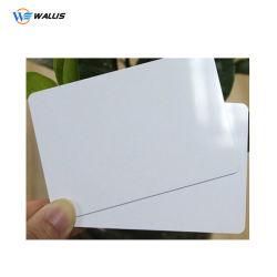 Версия для печати пустой белого цвета из PETG массой из ПВХ поликарбонат Пэт пластмассовых материалов в мастерской для IC ID Business Card принятия решений