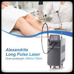La alta calidad láser 755nm+1064Alexandrite nm láser de pulso largo mejor Depilación Láser máquina