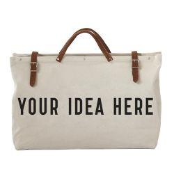 Custom Canvas женская сумка из натуральной кожи женщин Отдыхаюших Duffel Bag