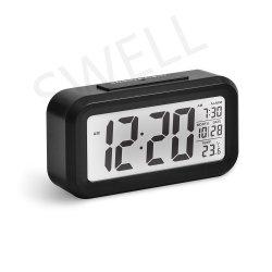 Elegante reloj analógico con pantalla digital LCD Reloj Despertador Reloj digital de alarma de batería