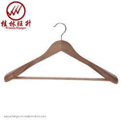 Роскошь и брюки Non-Slip бар твердые деревянные вешалки