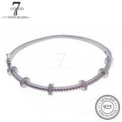 OEM Custom Fashion 925 Silver Jewelry Cool Girl Bangle