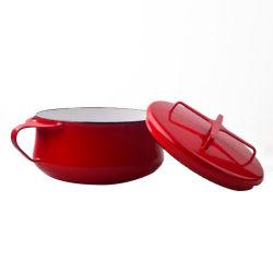 高品質のふたが付いているヨーロッパの台所用品の調理器具の一定の金属のエナメルの鋼鉄調理の鍋