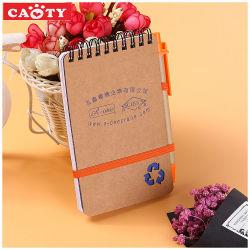 دفتر ملاحظات حلزوني الشكل في دفتر ملاحظات حلزوني من Office الترويجي مع قلم رصاص