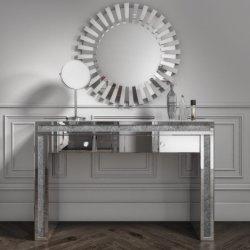 Alta qualidade quarto luxuoso centro residencial espelhado Penteadeira cômoda