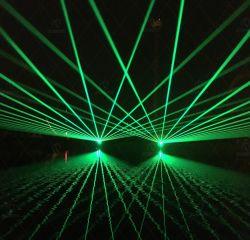 Luce laser di verde della discoteca del randello di notte di illuminazione della fase