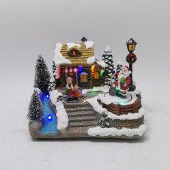 Горячий пункт недавно разработанные Рождество праздник подарок оформление в саду дома музыки с подсветкой LED вращается полимера ремесла