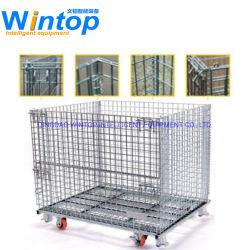 De vouwbare Container van het Broodje van het Pakhuis van de Commerciële Opslag van de Container van de Opslag Logistische met Wielen