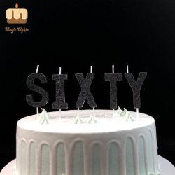 Un precio razonable, Número 60 decorativa vela de cumpleaños con las edades