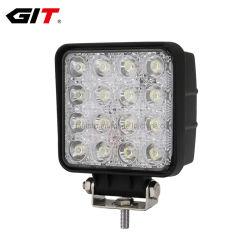 Resistente al agua 12V 48W de inundación Spot Lámpara LED de trabajo para el coche de la máquina de camiones Offroad (GT1015-48W)