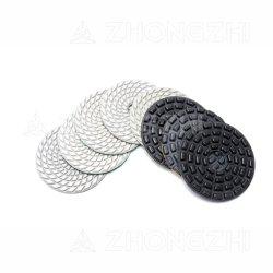 마이크로 결정 도와를 위한 D125mm 다이아몬드 거친 공구 닦는 패드