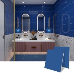 60X60 Square modern Pure Dark Blue Badkamer Keuken woonkamer Kijk als Ceramic Matte Texture Hotel Villa Home Porselein vloer Wandtegel
