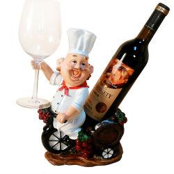 Estrutura do Vinho High-End European-Style Artesanato Resina Chefs criativa copo alto decoração figura da Estrutura