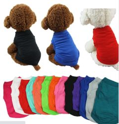 T-shirt estiva traspirante senza maniche in cotone con giubbotto in PET, gatto piccolo Vestiti