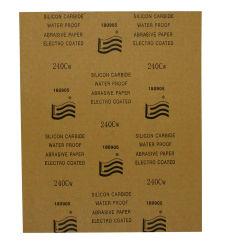Le carbure de silicium de gros sable de l'eau du papier abrasif