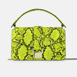 맞춤형 스네이크 스킨 파이썬 프린트 레이디 나케스킨 크로스파그 가방 여성용 핸드백 핸드백